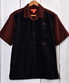 古着 like 50's Good Color Short Sleeve Shirt|50年代風 開襟半袖シャツ ブラック・ブラウン系 古着のネット通販 古着屋グレープフルーツムーン