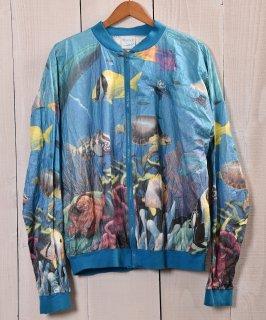 古着 Blue Ocean Multi Print Paper Jacket | オーシャン総柄ペーパージャケット 古着のネット通販 古着屋グレープフルーツムーン