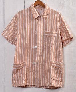 古着 EURO Military Sleeping Shirt Pajamas Bulgaria | ユーロミリタリー スリーピングシャツ・パジャマ ブルガリア軍 オレンジ系A 古着のネット通販 古着屋グレープフルーツムーン