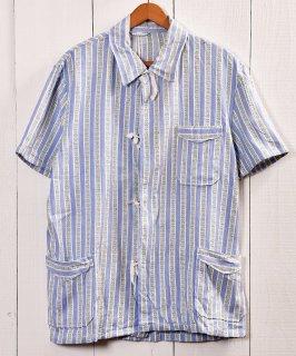 古着 EURO Military Sleeping Shirt Pajamas Bulgaria | ユーロミリタリー スリーピングシャツ・パジャマ ブルガリア軍 ブルー系A 古着のネット通販 古着屋グレープフルーツムーン