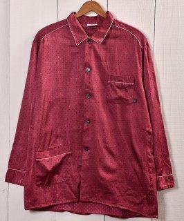 古着 Made in Germany Small Mark Pattern Pajamas Shirt  ドイツ製 小紋柄 パジャマシャツ 古着 ネット 通販 古着屋グレープフルーツムーン