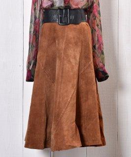 古着Flare Silhouette Suede Leather Skirt|フレアシルエット スエードレザースカート 古着のネット通販 古着屋グレープフルーツムーン