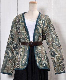 古着 60's〜70's Made in USA Vera Paisry Jacket|アメリカ製 ヴェラ ペイズリー柄 ジャケット 古着のネット通販 古着屋グレープフルーツムーン