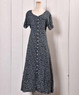 古着 Small Flower pattern Dress | 小花柄 前開きドレス 古着のネット通販 古着屋グレープフルーツムーン