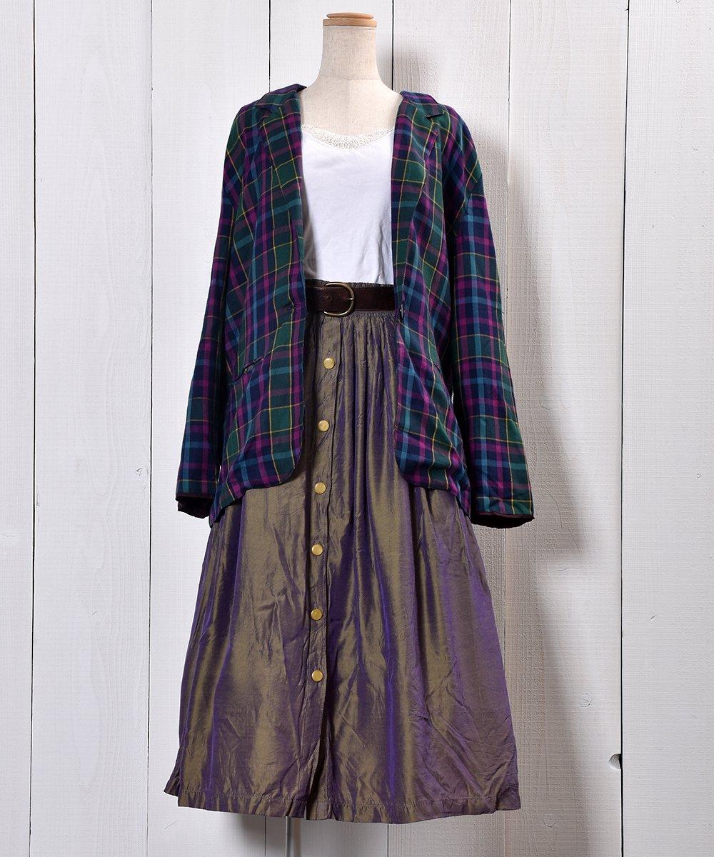 80's Check Pattern Tailored Jacket|80年代チェック柄 テーラードジャケットサムネイル