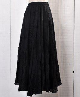 古着 All Silk Gather Skirt Black |ギャザー入りシルクスカート ブラック系 古着のネット通販 古着屋グレープフルーツムーン