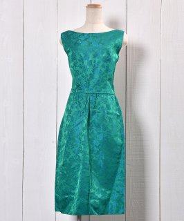 古着 50's Rose Pattern  Cocktail Dress |50年代 バラ柄 カクテル ドレス 古着 ネット 通販 古着屋グレープフルーツムーン