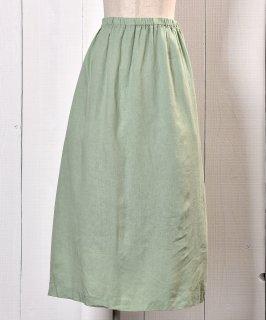 古着  Flare Slit Skirt Mint Green |ミントグリーン スリット フレアスカート 古着のネット通販 古着屋グレープフルーツムーン