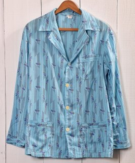 古着 Multi Pattern Pajamas Shirt  総柄パジャマシャツ   サックス系 古着 ネット 通販 古着屋グレープフルーツムーン