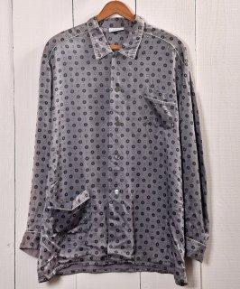古着 Multi Pattern Pajamas Shirt  総柄パジャマシャツ   グレー系 古着 ネット 通販 古着屋グレープフルーツムーン
