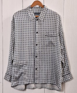 古着 Multi Pattern Pajamas Shirt  総柄パジャマシャツ   ブルー系   ホワイト系 古着 ネット 通販 古着屋グレープフルーツムーン