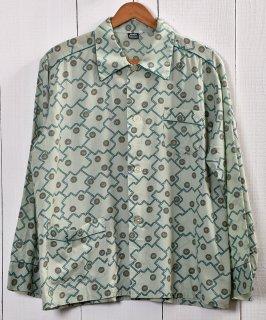 古着 Multi Pattern Pajamas Shirt  総柄パジャマシャツ   グリーン系 古着 ネット 通販 古着屋グレープフルーツムーン