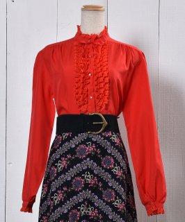 古着Made in USA Frill Blouse |アメリカ製 フリル ブラウス 古着のネット通販 古着屋グレープフルーツムーン