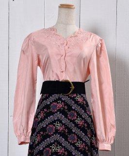 古着Embroidery Cutwork Blouse |カットワーク刺繍 ブラウス 古着のネット通販 古着屋グレープフルーツムーン