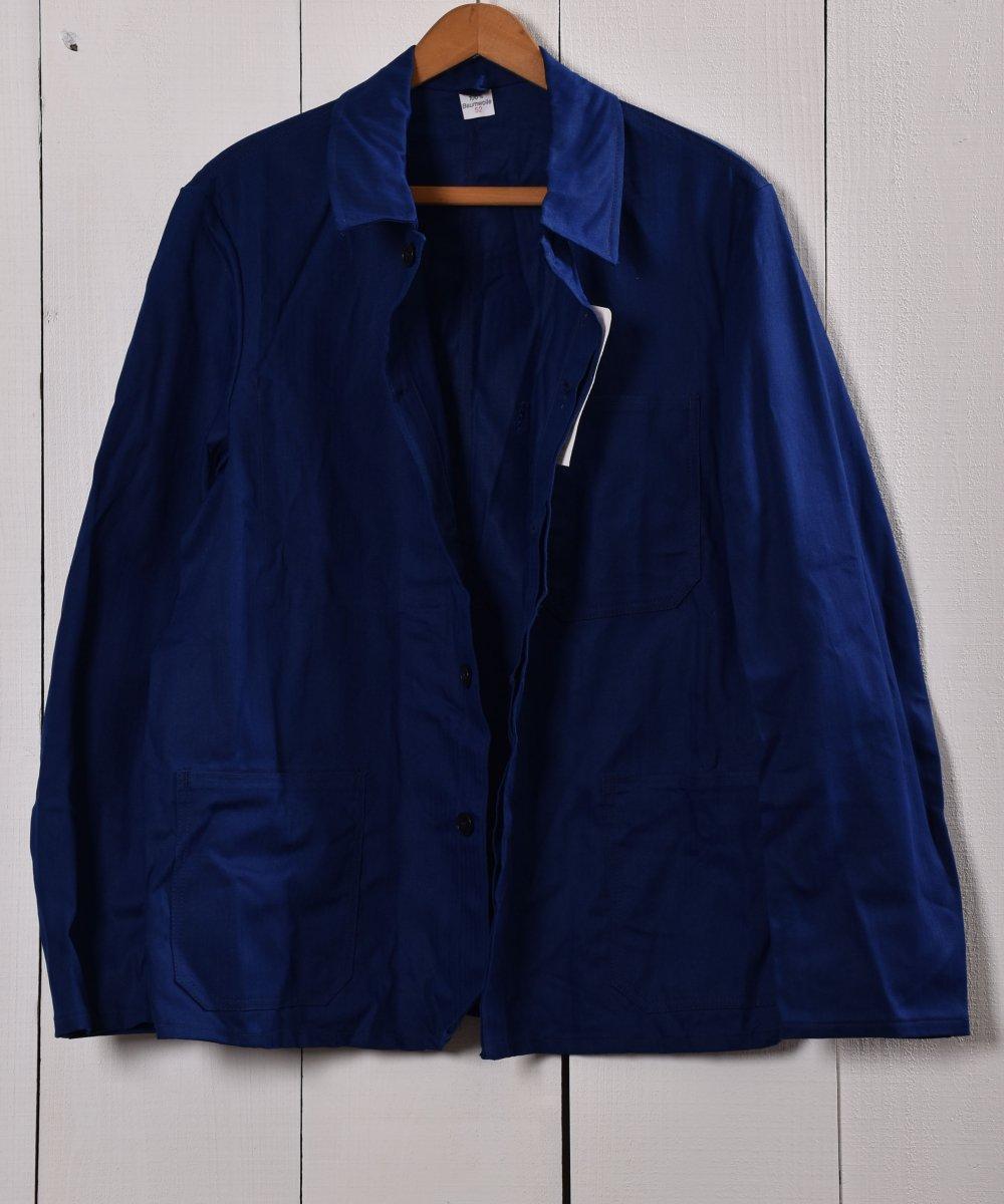 Made in Germany Herringbone Deadstock Work Jacket | ドイツ製 ヘリンボーン デッドストック ワークジャケット  | ユーロワークサムネイル