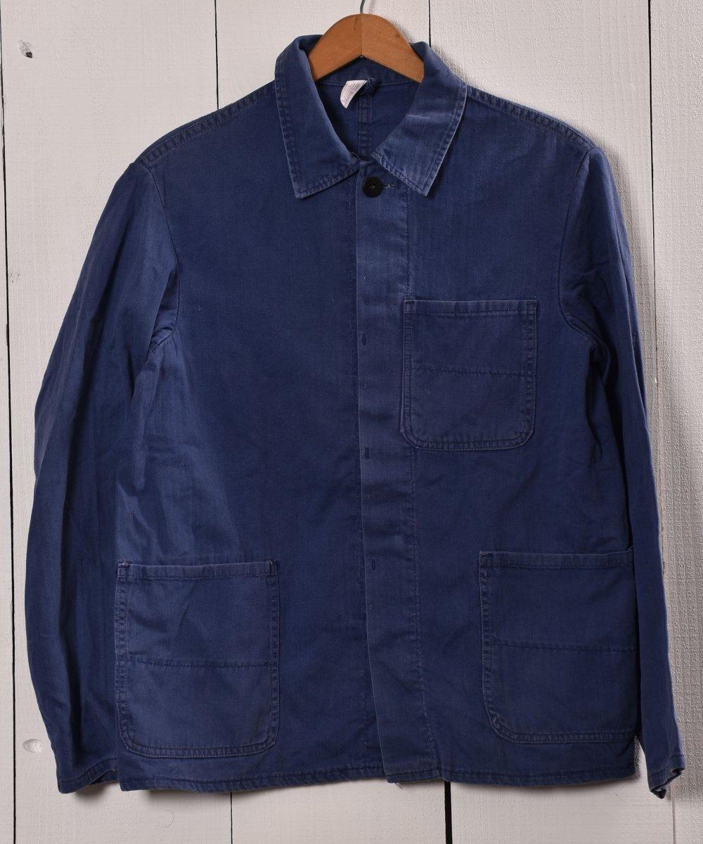 古着 Made in Germany Herringbone Work Jacket   ドイツ製 ヘリンボーン ワークジャケット   ユーロワーク 古着 ネット 通販 古着屋グレープフルーツムーン
