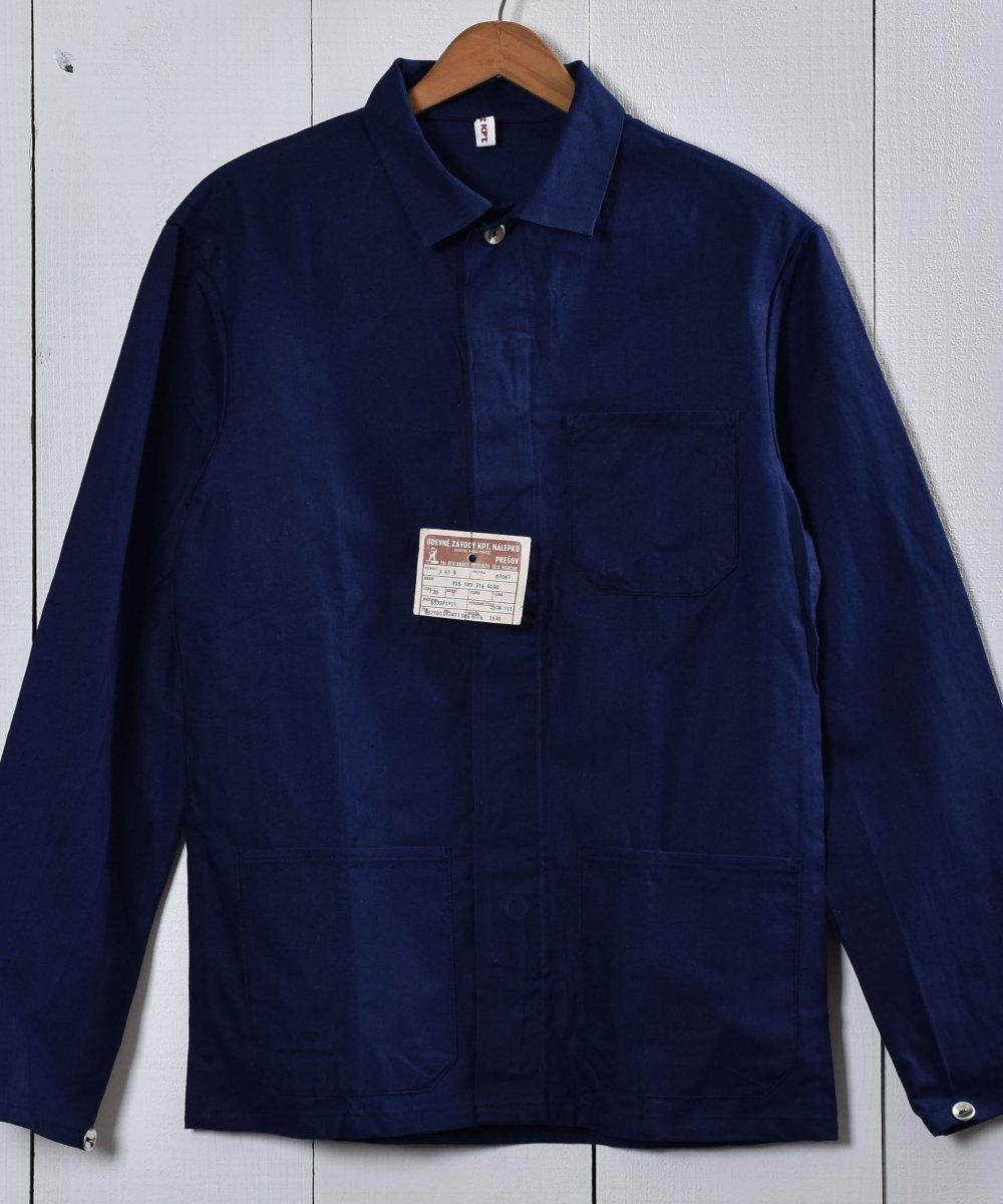 古着 Made in Europe Herringbone Deadstock Work Jacket | ヨーロッパ製 ヘリンボーン デッドストック ワークジャケット | ヨーロッパワーク 古着 ネット 通販 古着屋グレープフルーツムーン