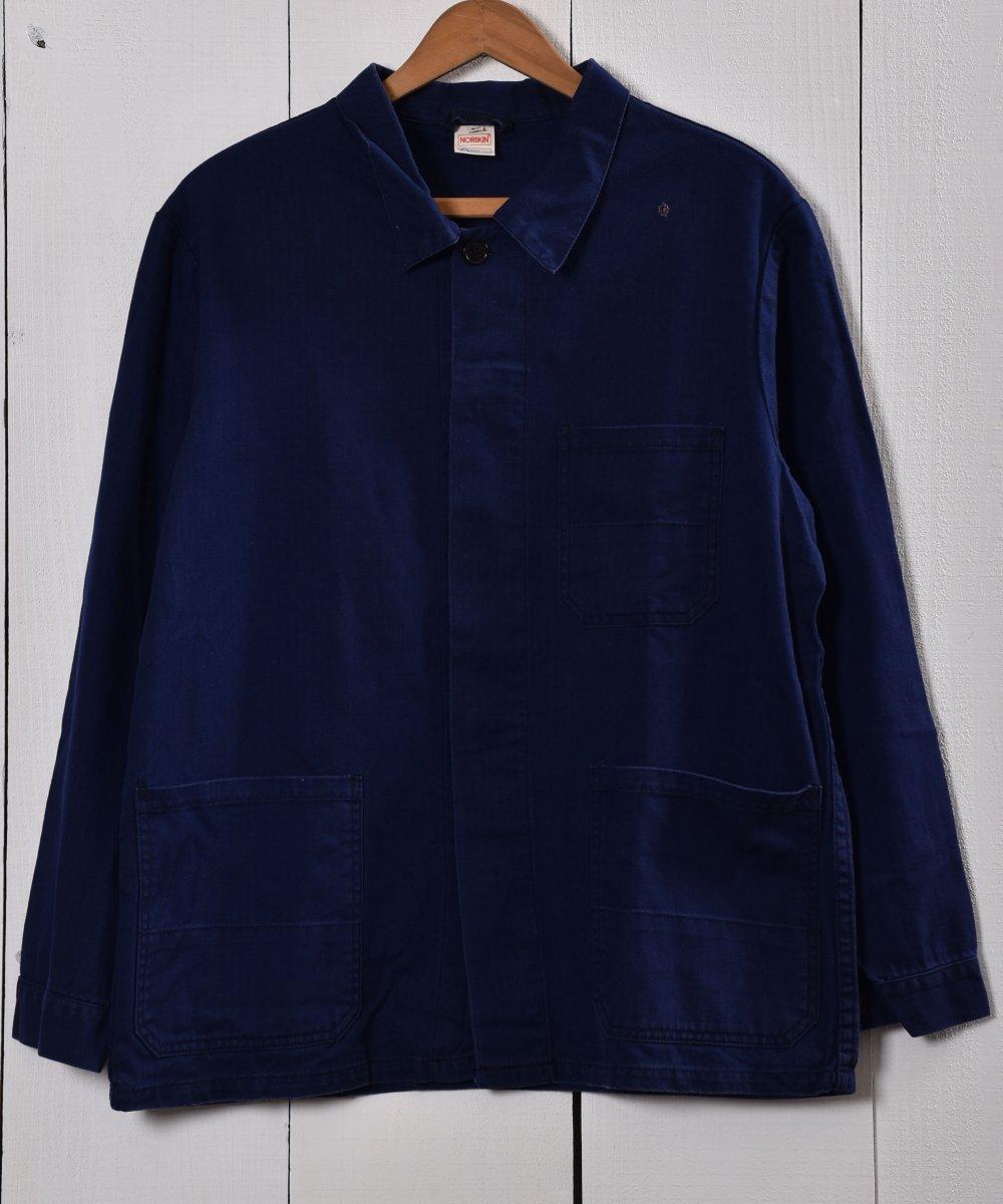 古着 Made in Germany Herringbone Work Jacket | ドイツ製 ヘリンボーン ワークジャケット | ユーロワーク 古着 ネット 通販 古着屋グレープフルーツムーン