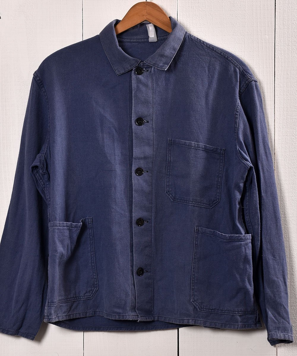 古着 Made in Europe Cotton Twill Work Jacket   ヨーロッパ製 コットンツイル生地 ワークジャケット    ユーロワーク 古着 ネット 通販 古着屋グレープフルーツムーン