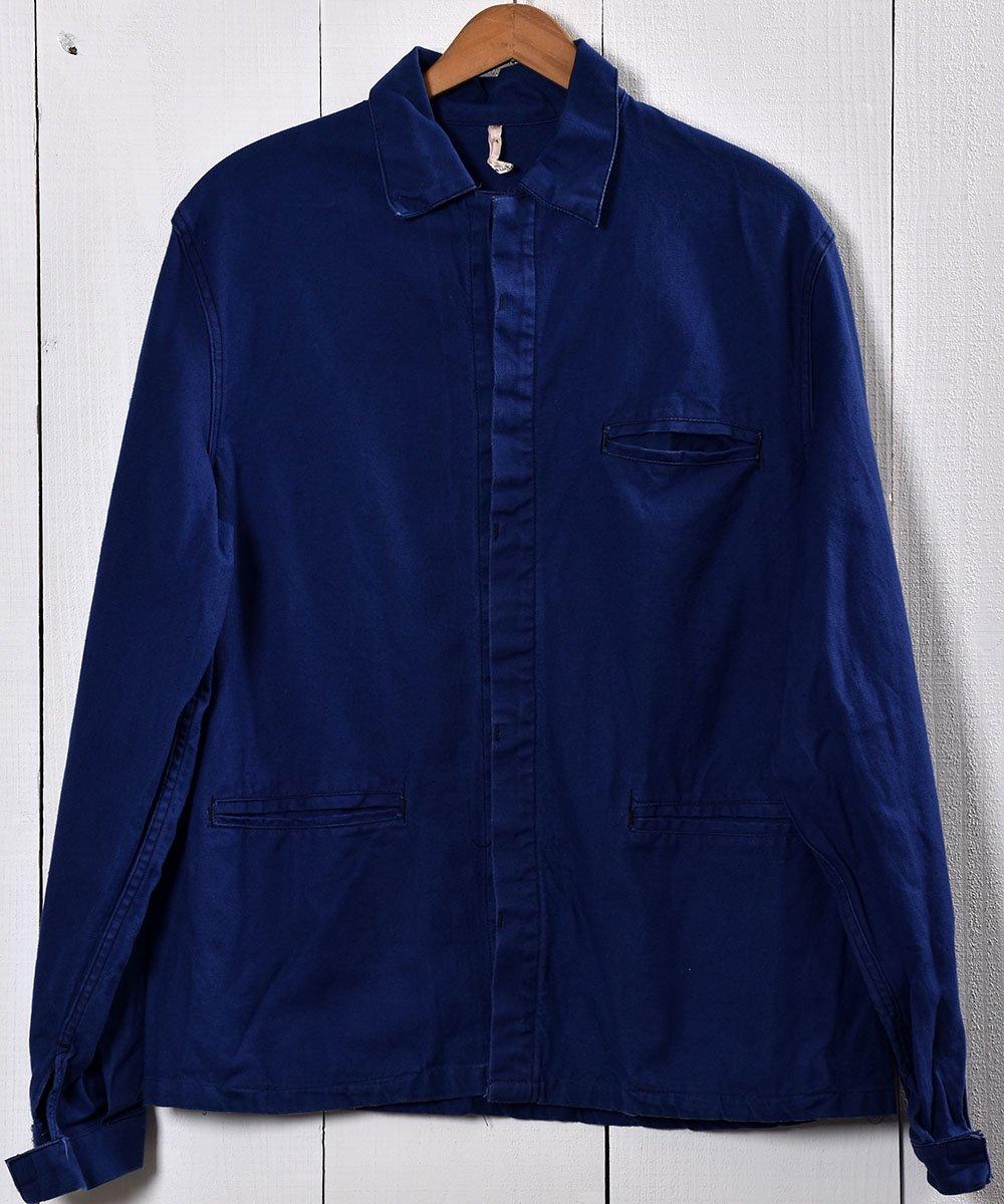 古着 Made in Germany Cotton Twill Work Jacket   ドイツ製 コットンツイル生地 ワークジャケット    ユーロワーク 古着 ネット 通販 古着屋グレープフルーツムーン