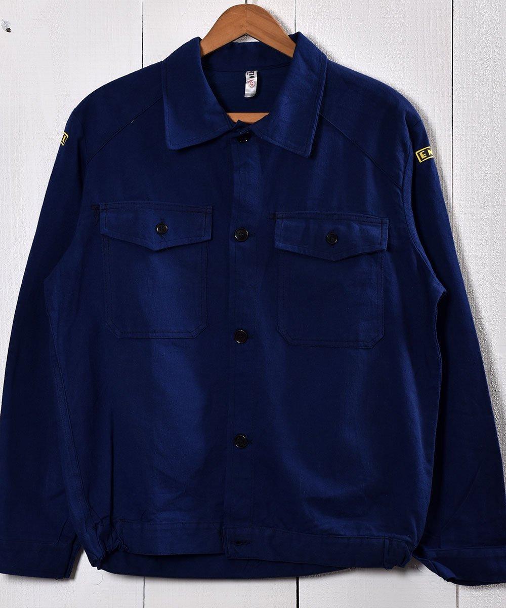 古着 Made in Italy Cotton Twill Work Jacket | イタリア製 コットンツイル生地 ワークジャケット  | ユーロワーク 古着 ネット 通販 古着屋グレープフルーツムーン