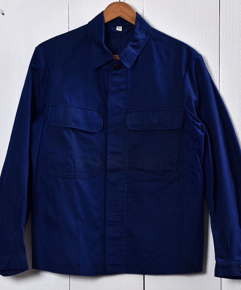 古着 Made in Germany Herringbone Twill  Work Jacket | ドイツ製ヘリンボーン生地 ワークジャケット  | ユーロワーク 古着 ネット 通販 古着屋グレープフルーツムーン