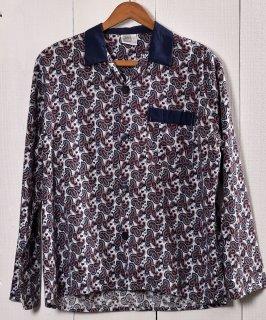 古着 European Paisley Pattern Pajamas Shirt  ペイズリー総柄 パジャマシャツ 古着 ネット 通販 古着屋グレープフルーツムーン