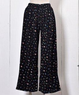 古着 Flower Pattern Long Easy Pants |花柄イージーパンツ ロング丈 【SET UP着用可能商品】 古着のネット通販 古着屋グレープフルーツムーン