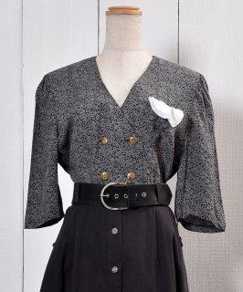 古着 Karakusa Pattern Short Sleeve Shirt|唐草模様 総柄 半袖シャツ 古着のネット通販 古着屋グレープフルーツムーン
