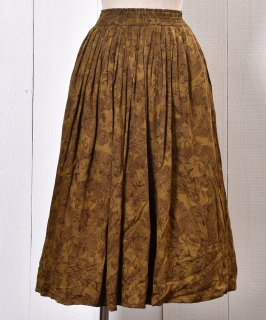 古着 Flower Pattern  Skirt|花柄 スカート ブラウン系 古着のネット通販 古着屋グレープフルーツムーン