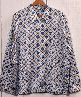 古着 Multi Pattern Pajamas Shirt   総柄 パジャマシャツ   ブルー系  Made in Germany 古着 ネット 通販 古着屋グレープフルーツムーン