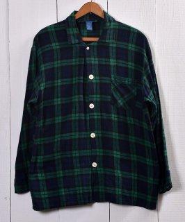 古着 TOWN CRAFT Check Pattern Pajamas Shirt  タウンクラフト チェック柄パジャマシャツ   グリーン系 古着 ネット 通販 古着屋グレープフルーツムーン