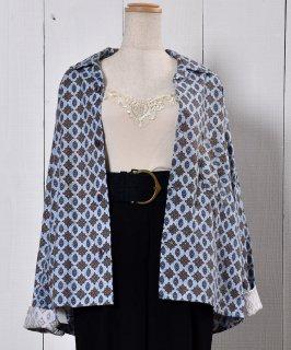 古着 Small Pattern Pajamas Shirt 小紋柄パジャマシャツ  古着のネット通販 古着屋グレープフルーツムーン