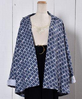 古着 Made in UK Small Pattern Pajamas Shirt イギリス製 小紋柄パジャマシャツ  古着のネット通販 古着屋グレープフルーツムーン