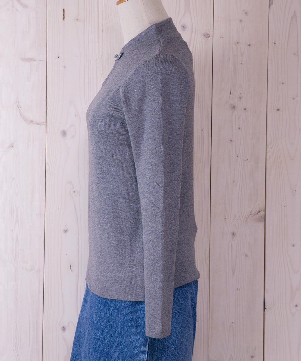 """Meridian"" China Button Rib Knit |チャイナボタン リブニットサムネイル"