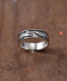 古着Silver Ring Feather Pattern | フェザーパターン シルバーリング 古着のネット通販 古着屋グレープフルーツムーン