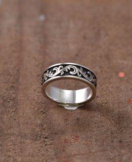 古着Silver Ring 7mm Arabesque | 唐草模様モチーフ 7mmシルバーリング 古着のネット通販 古着屋グレープフルーツムーン