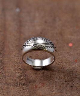 古着Silver Ring Rhombus & Fence Stamp | ネイティブアメリカン シンボルモチーフシルバーリング 古着のネット通販 古着屋グレープフルーツムーン