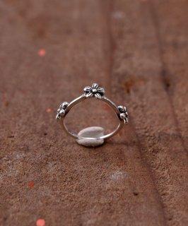 古着Silver Ring V 3 Flower | V字 3連フラワー シルバーリング 古着のネット通販 古着屋グレープフルーツムーン