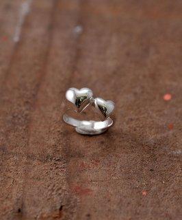 古着Silver Ring Heart Sorelle | 寄り添うハートモチーフ シルバーリング 古着のネット通販 古着屋グレープフルーツムーン
