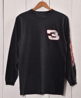 古着 Number Print Long Sleeve T-shirt | 数字プリント 長袖 Tシャツ | ロンT | ブラック系 古着のネット通販 古着屋グレープフルーツムーン