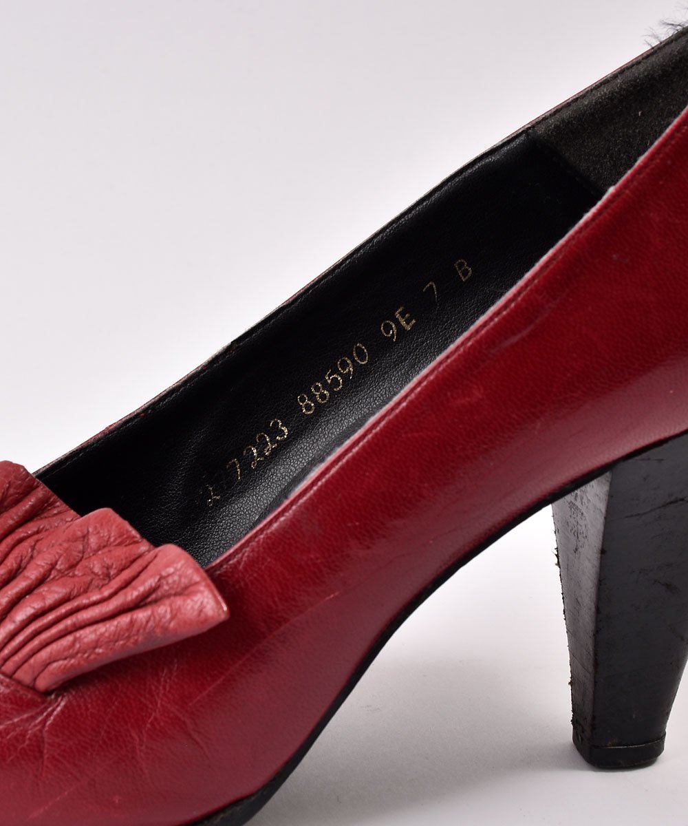 Made in Spain Leather Design Pumps Red | スペイン製レザーデザインパンプス レッド系サムネイル