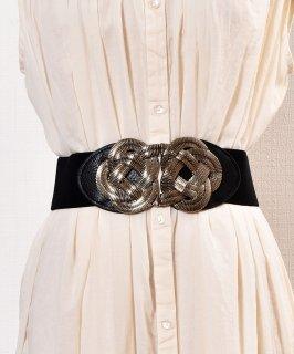 古着Belt Braid Rope| ロープデザインベルト ブラック 古着のネット通販 古着屋グレープフルーツムーン