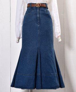 古着 Mermaid Denim Skirt |マーメイド デニムスカート   古着のネット通販 古着屋グレープフルーツムーン