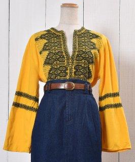 古着 Long Sleeve Embroidery Tunic Blouse|長袖 刺繍  チュニックブラウス 古着のネット通販 古着屋グレープフルーツムーン