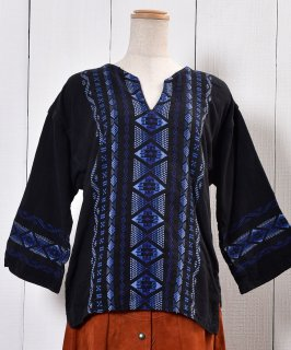 古着 Long Sleeve Guatemala Embroidery Tunic Blouse |長袖 刺繍 ガテマラ チュニックブラウス 古着のネット通販 古着屋グレープフルーツムーン