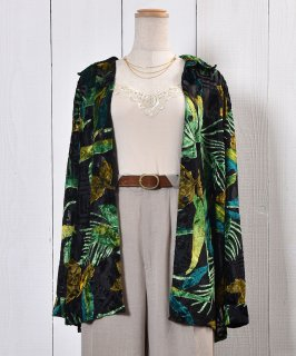 古着Botanical Sheer Shirt|ボタニカル柄シアーシャツ 古着のネット通販 古着屋グレープフルーツムーン