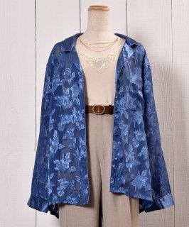 古着Oriental Pattern  Sheer Shirt|オリエンタル柄 シアーシャツ 古着のネット通販 古着屋グレープフルーツムーン