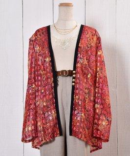 古着Oriental Pattern Sheer Shirt|オリエンタル柄シアーシャツ 古着のネット通販 古着屋グレープフルーツムーン