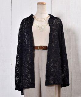 古着Flower Pattern Sheer Shirt|花柄シアーシャツ 古着のネット通販 古着屋グレープフルーツムーン